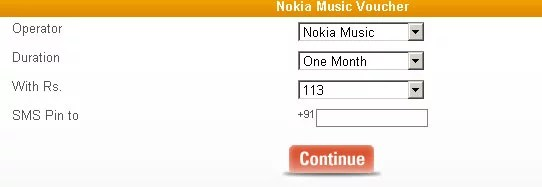Oxycash Nokia Music store subscription purchase