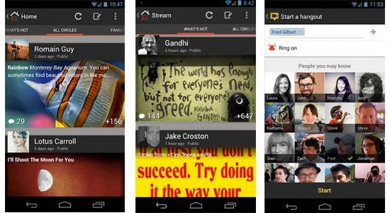 Redesigned Beautiful Google+ App for Android Now Live