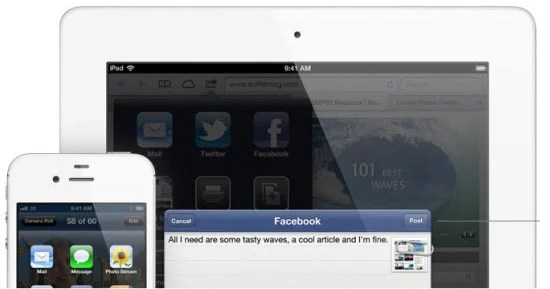 Facebook fully baked into iOS6