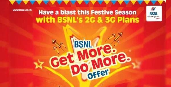 BSNL relaunches Festive Promotional Full talktime Offer for 2G & 3G prepaid mobile customers