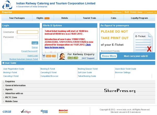 IRCTC New Policy on Train Ticket Reservation Under Tatkal Scheme