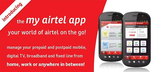 Airtel launches 'my airtel' mobile app for Customers to Manage Airtel services