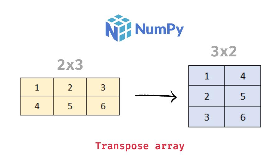 Transpose a 2d numpy array