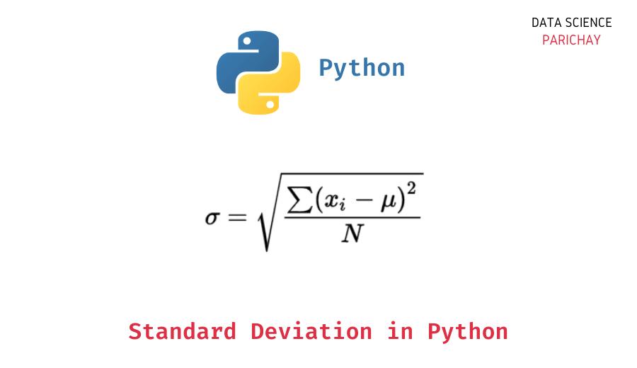 standard deviation in python