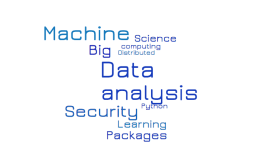 Python Packages data analysis, Machine Learning, Security and Distributed computing