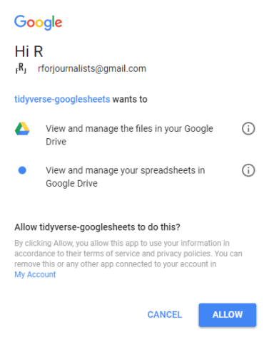 How to Use googlesheets to Connect R to Google Sheets   R