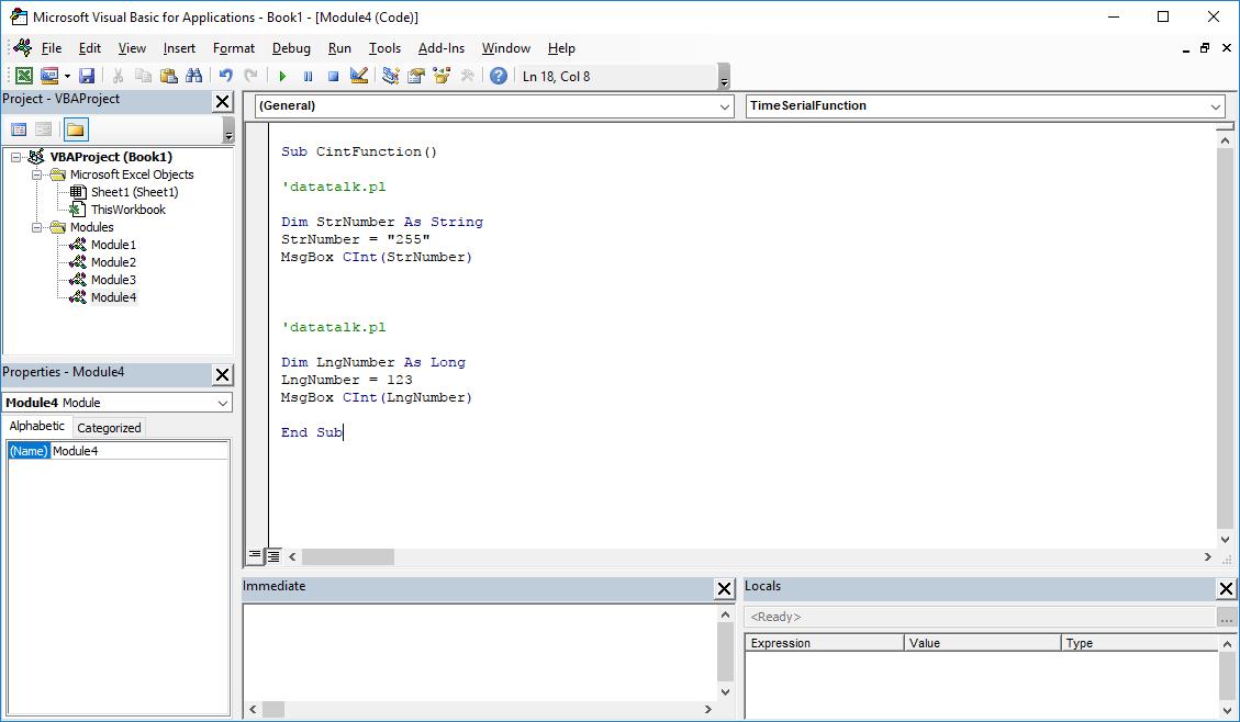 Excel VBA functions - CINT VBA function