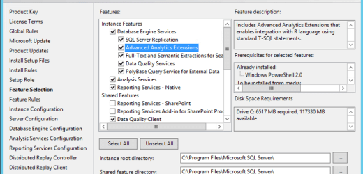 Installing and Configuring SQL Server R Services