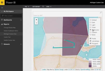 Power BI Custom Visual Leaflet Map