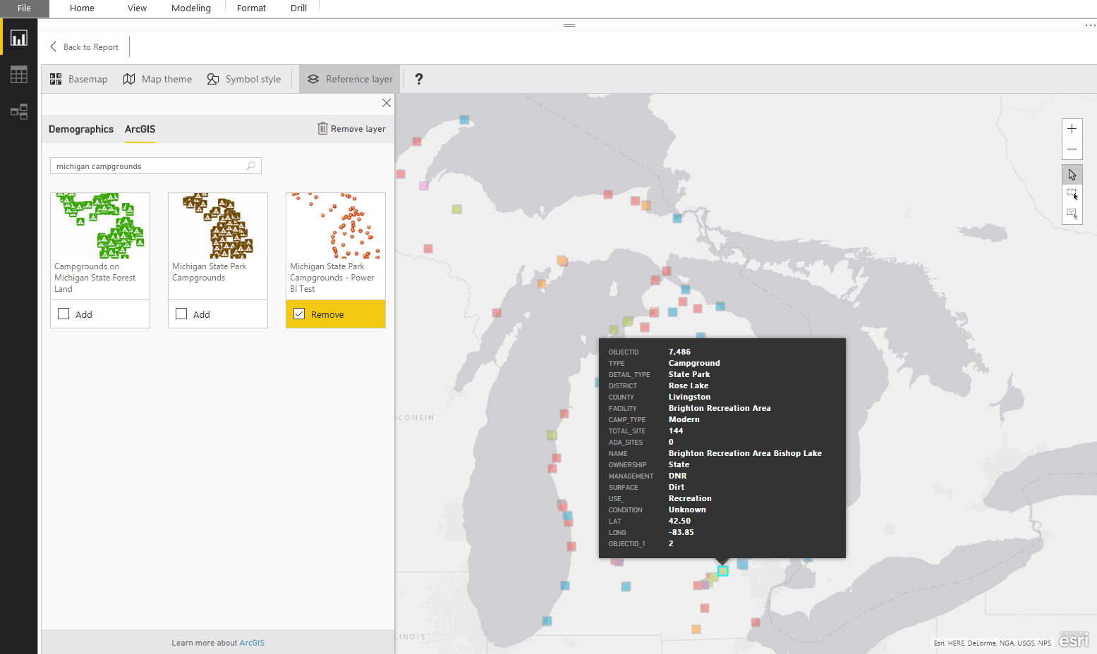 How To Add Your Own ArcGIS Reference Layers for Power BI