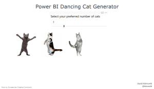 Power BI Sample - Dancing Cats