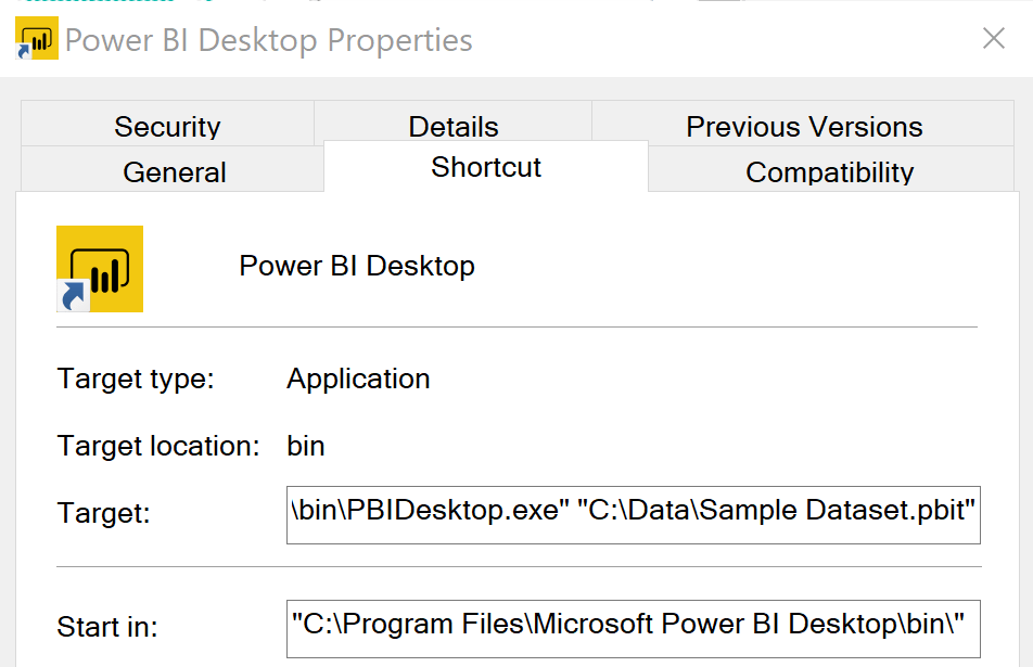 Power BI Quick Tip: Use Windows Shortcuts to Open Power BI with a Default File