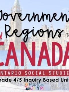 Focus on inquiry in your classroom with this Grade 4/5 split Canadian Physical Regions and Government unit! It's the perfect social studies inquiry unit.