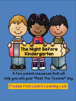 Night Before Kindergarten: Freebie Parent Resources for Me