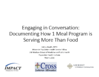 Hunger Summit How 1 Program is serving more than Food, May 2016