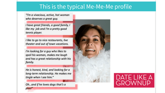 Woman dating profile