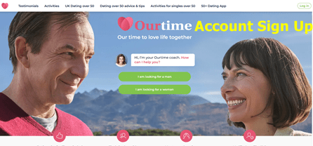 Www ourtime com sign up