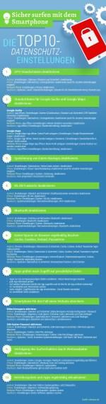 Infografik: Sicher surfen mit dem Smartphone