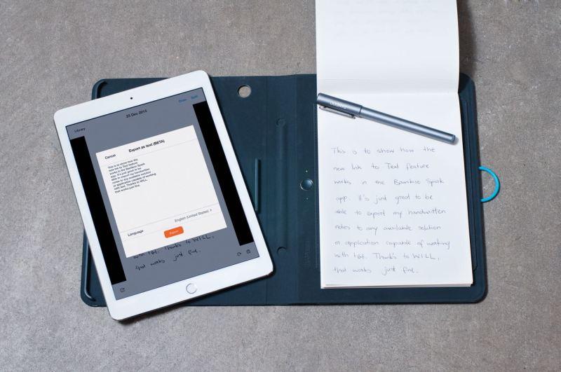 Wacom präsentiert auf der CES 2016 in Las Vegas die neue Handschrift-in-Text Funktion für das smarte Bamboo Spark Notizbuch sowie neue Bamboo Smart Styli für Windows und Android. Bild: obs/Wacom Europe GmbH