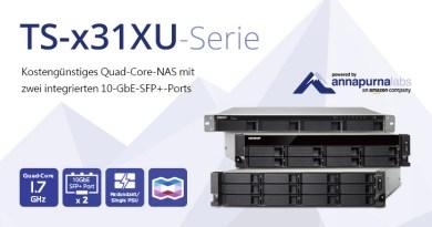 QNAP TS-x31XU als preisgünstiges Rackmount NAS
