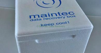 Nach der Datenrettung. Data Recovery Box von Maintec