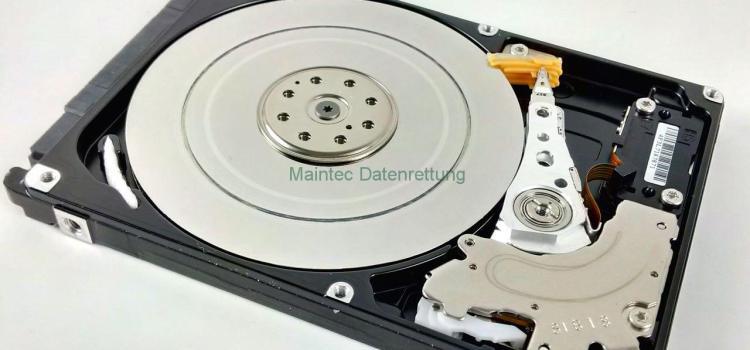 Festplatte gefallen. Datenrettung erfolgreich.