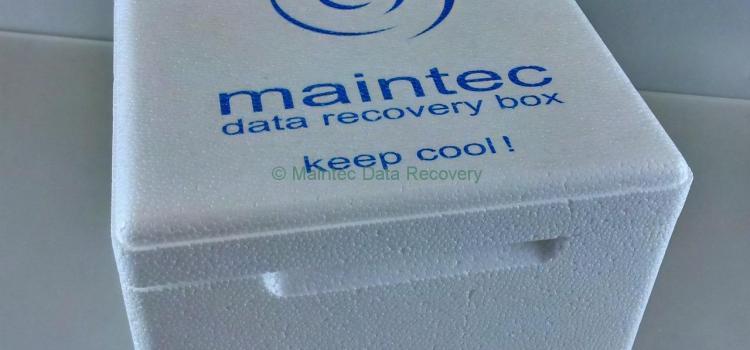 Speziell für den Transport von Daten. Data Recovery Box!