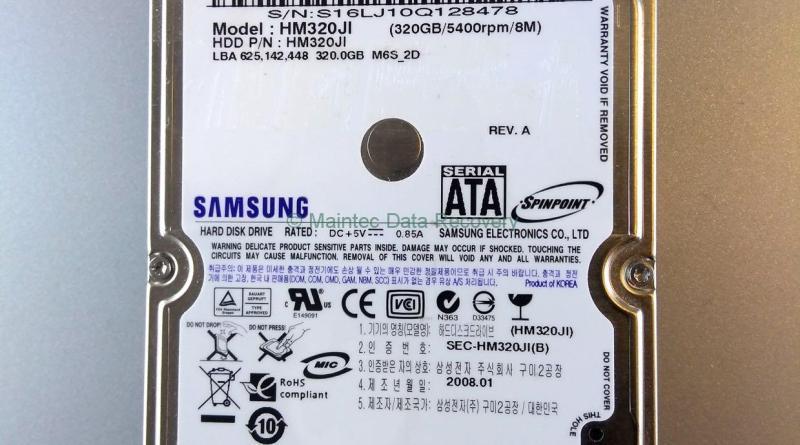 Samsung Festplatte aus Kassel nach dem Sturz
