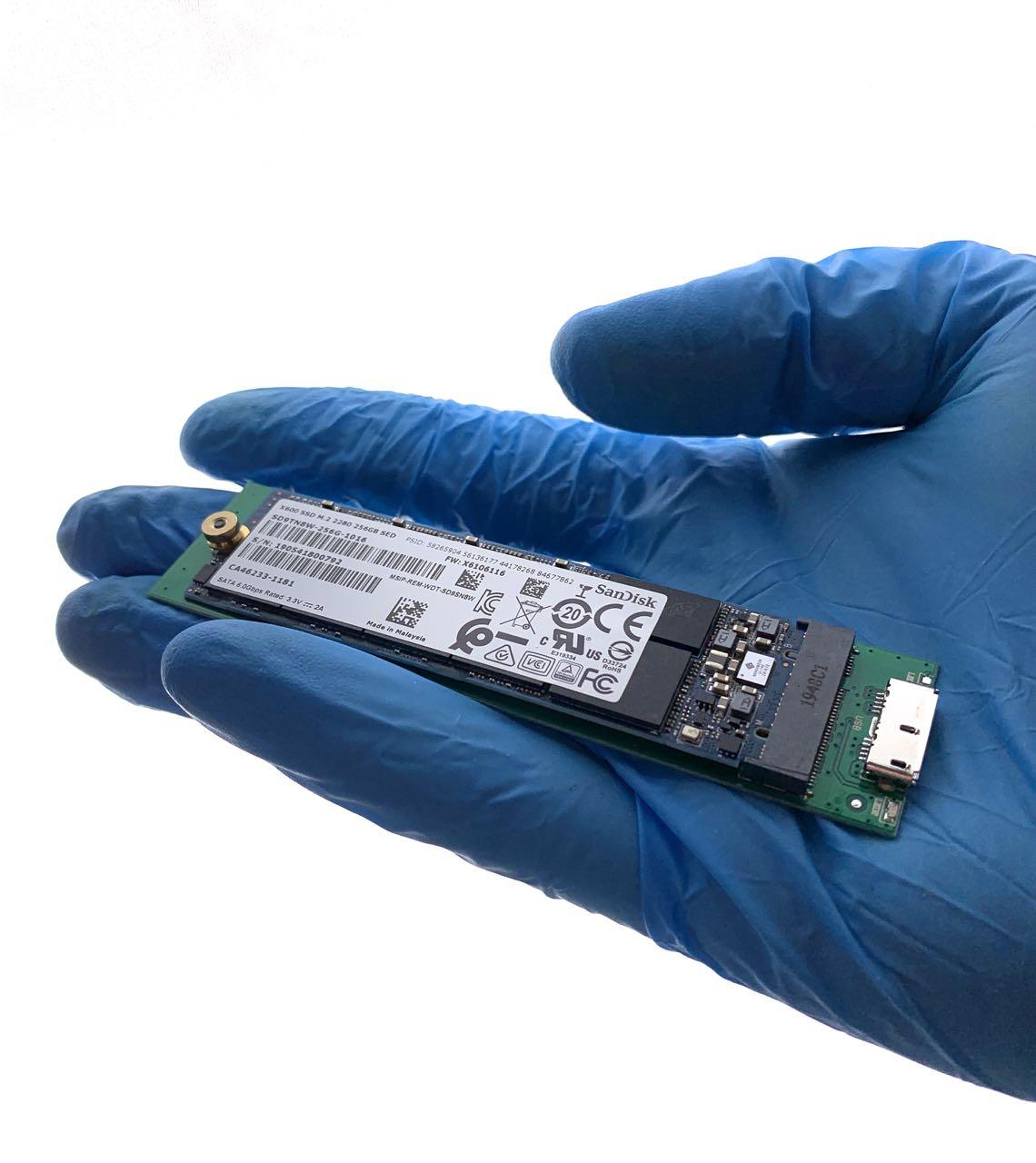 Datenrettung Sandisk X600 M.2 2280 mit BitLocker verschlüsselt