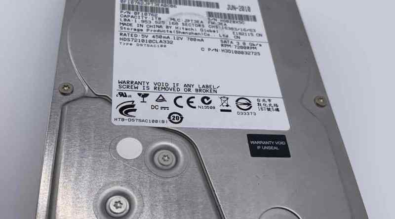 Hitachi HDS721010CLA332 als externe Festplatte betrieben