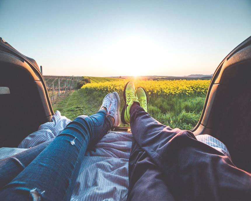 A couple enjoying the scenery.