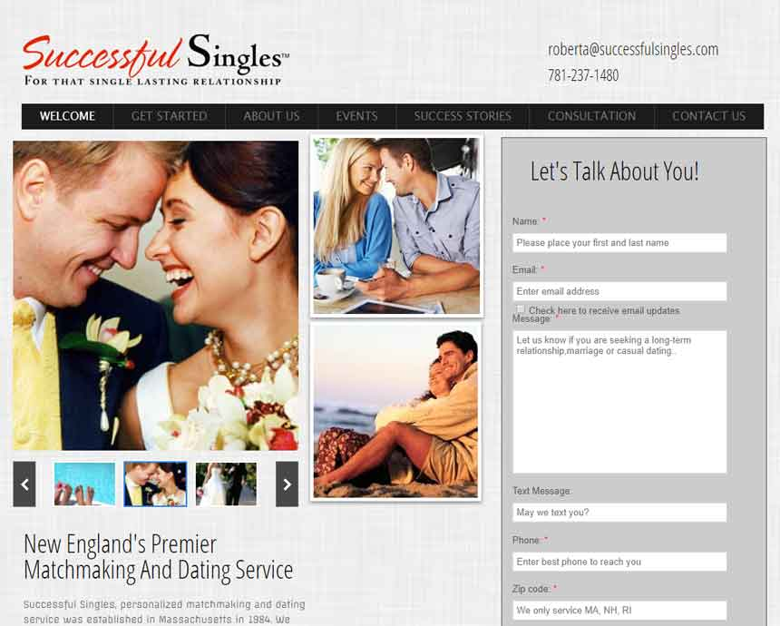 SuccessfulSingles.com's homepage