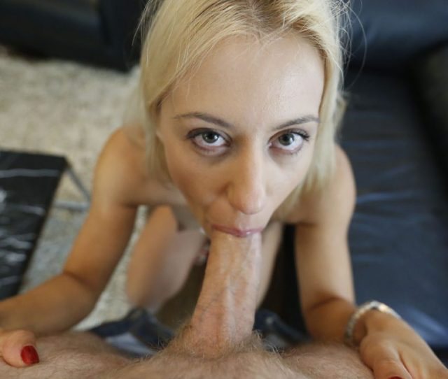 Pov Shows Blonde Babe Agnes Giving A Blowjob In This Vacation Porn Scene