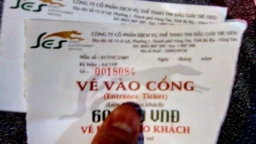 Dog Racing In Vung Tau - Ticket Prices