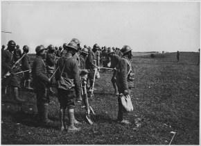 Black troops in France receiving Machine Gun training