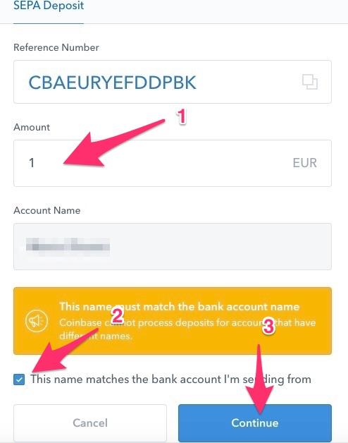 coinbase deposit