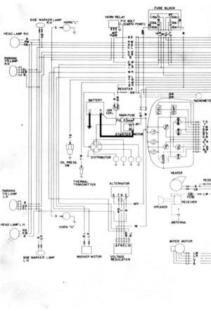1971 Wiring Diagram (part 1 of 2) : Datsun 1200 Club