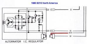 Tech Wiki  IR Alternator Conversion Wiring : Datsun 1200 Club