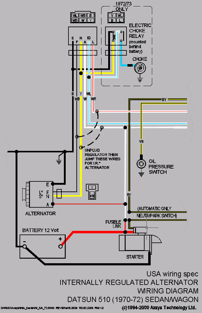 Wiring diagram for denso alternator the