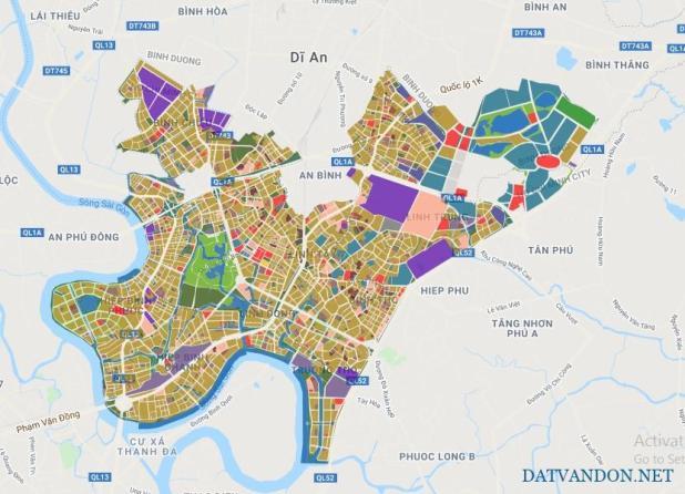 Bản đồ quy hoạch quận thủ đức tp hồ chí minh