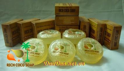 xa bong dua thien nhien handmade rich coco soap lam tu tinh dau dua nguyen chat xa phong diet khuan rua tay rua mat tam duong am da 6