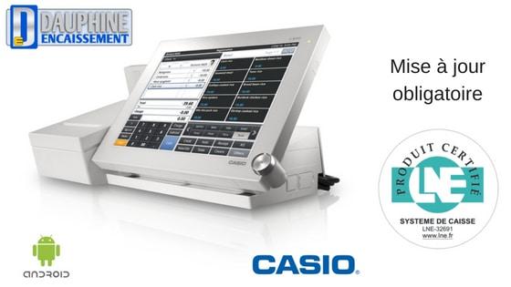 Gamme de caisses enregistreuses CASIO certifiées pour 2018