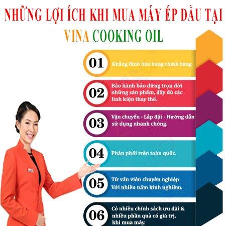 lợi ích khi mua máy ép dầu tại Vina Cooking Oil