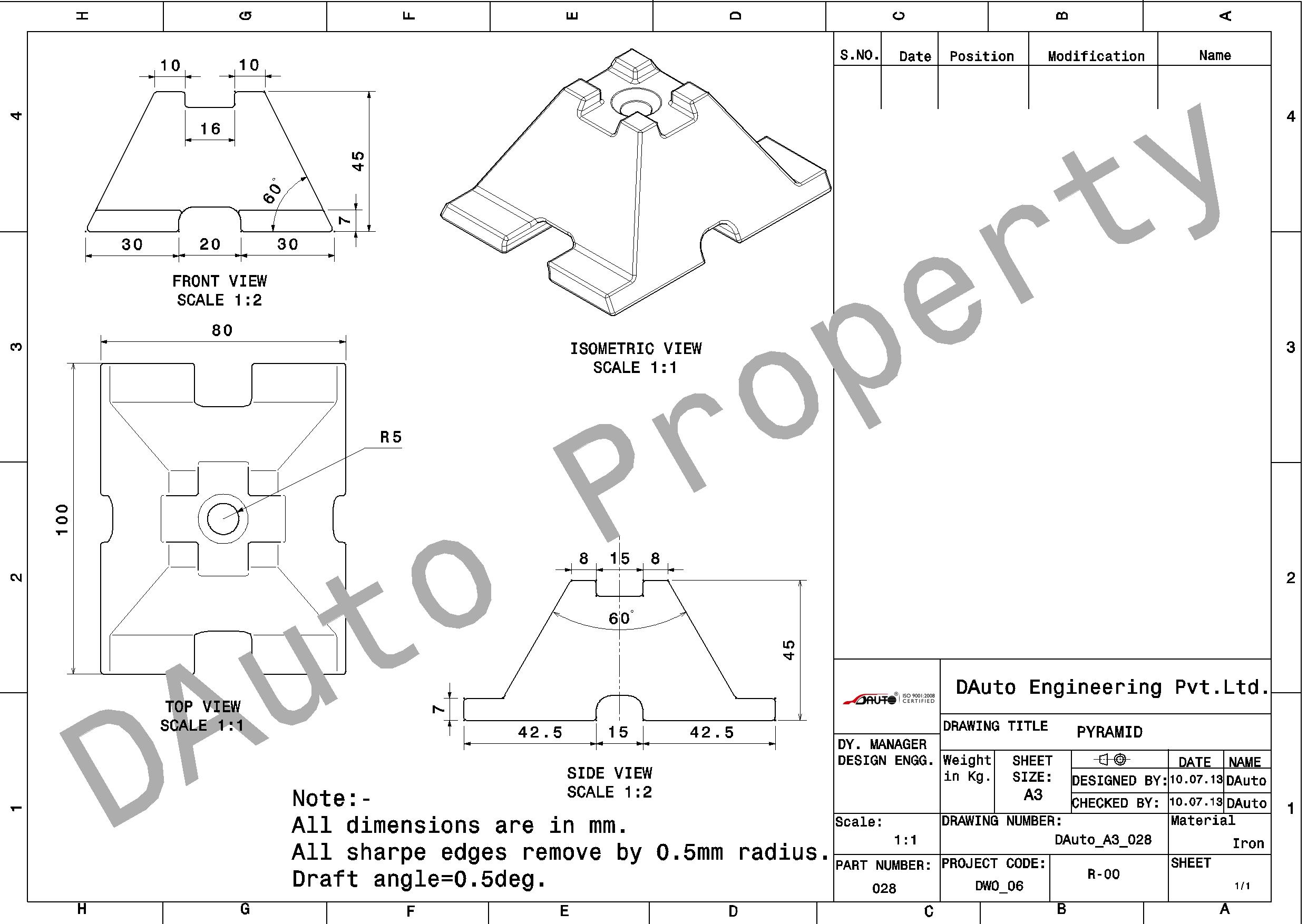 Mechnical Engineering Drawing
