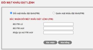 thay đổi mật khẩu đặt lệnh trên web SmartOne