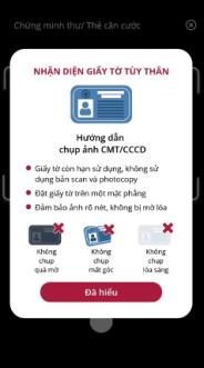 Hướng dẫn cách xác thực eKYC trên app SmartOne