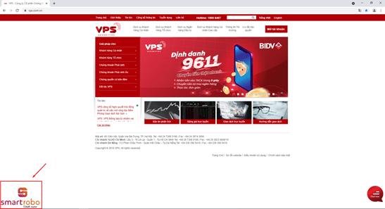 Tương tác với SmartRobo trên website VPS