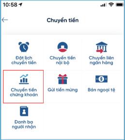 nộp tiền nhanh vào tài khoản chứng khoán VPS qua ứng dụng Vietinbank Ipay