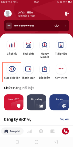 giao dịch tiền