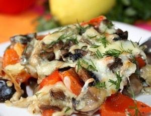 Aubergine zur Herstellung von Lasagne zur Gewichtsreduktion